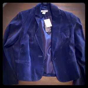 Blue suede Newport News Womens jacket size 12